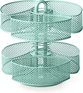 NIFTY Cosmetic Organizing Carousel with Removable Baskets - Lucite Green