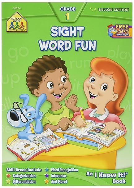 Amazon.com: School Zone Workbooks-Sight Word Fun Grade 1