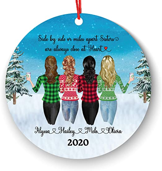 Gift for Friends Friends Forever Ornament Distance Ornament Best Friend Ornament State Ornament Personalized Ornament BFF
