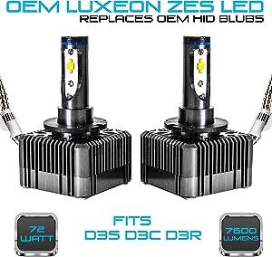 Stark 72W 7600LM Headlight LED Canbus Conversion Kit 6000K White Replace OEM HID Xenon Bulbs - D3S D3R D3C