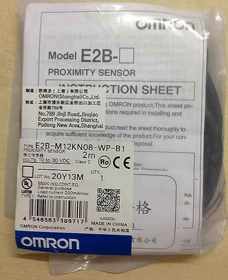 Amazon.com: Omron E2B-M12KN08-WP-B1 Proximity Sensor M12, unshield, sensing distance 8mm, 3 wires PNP NO: Home Improvement