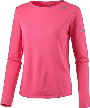 Adidas Run LS tee W - Camiseta de Manga Larga para Mujer, Color Rosa, Talla XXS: Amazon.es: Deportes y aire libre