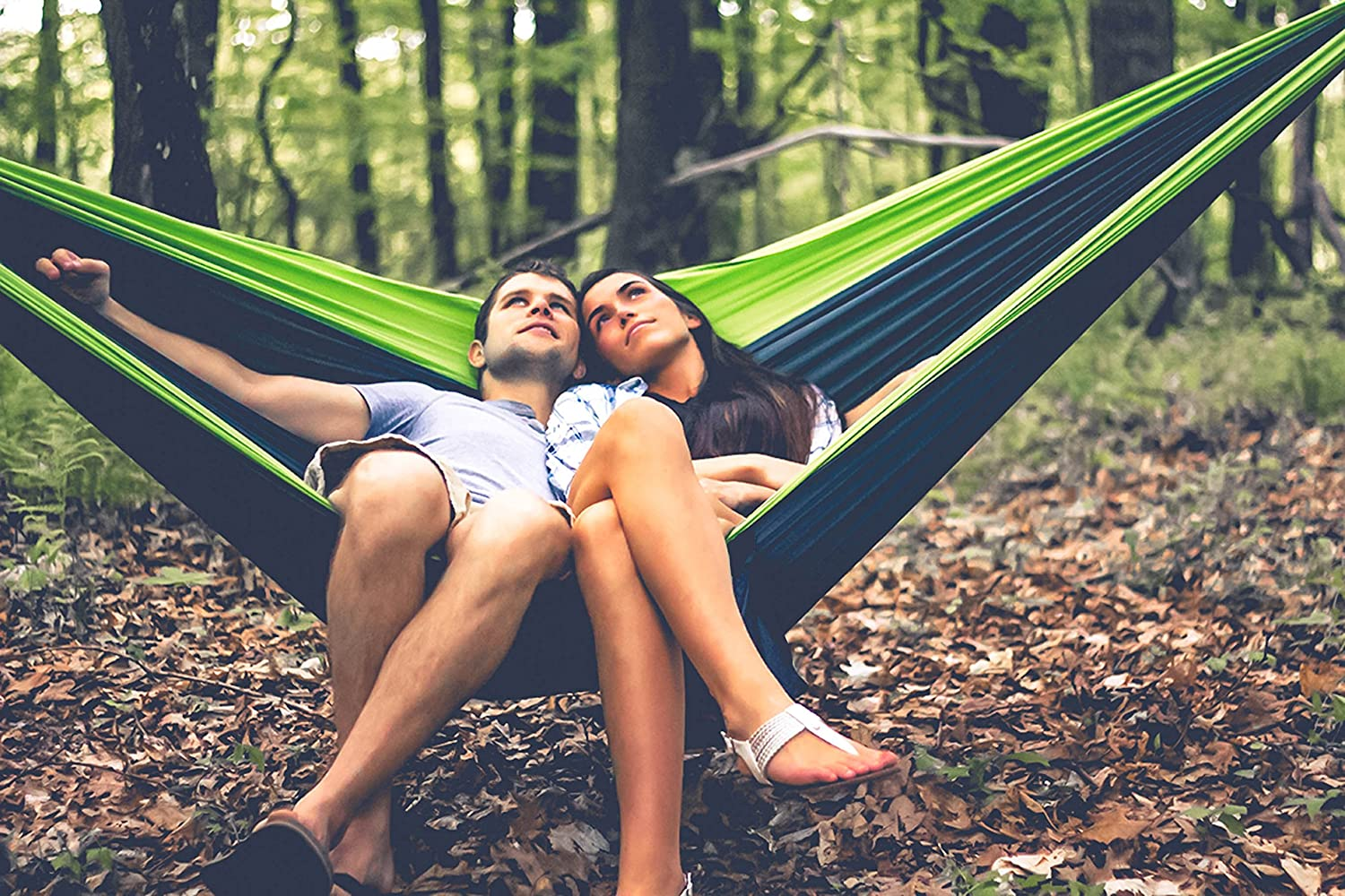 Holds 500LBS-Ideal for Travel Compact /& Portable Two Person Parachute Nylon Hammock Set- 2-16 Loop Tree Straps Live Infinitely Double Outdoor Camping Hammock Set- Lightweight Hiking /& Beach