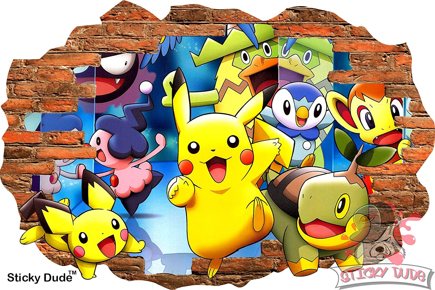 Amazon.com: 3D Effect Pokemon and Friends Decal - High resolution ...