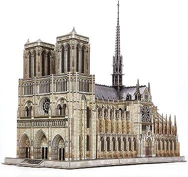 CubicFun Puzzle 3D Francia Notre Dame de Paris Modelo de Arquitectura Kits de Construcción con Estructura Interna Lglesia Gótica Rompecabezas 3D Regalo para Adultos, 293 Piezas: Amazon.es: Juguetes y juegos