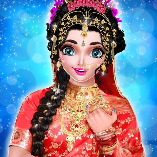 Amazon.com Royal Indian Wedding Bride Dress up and Makeup