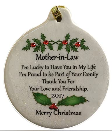 mother in law porcelain 2017 porcelain ornament gift boxed rhinestone mom
