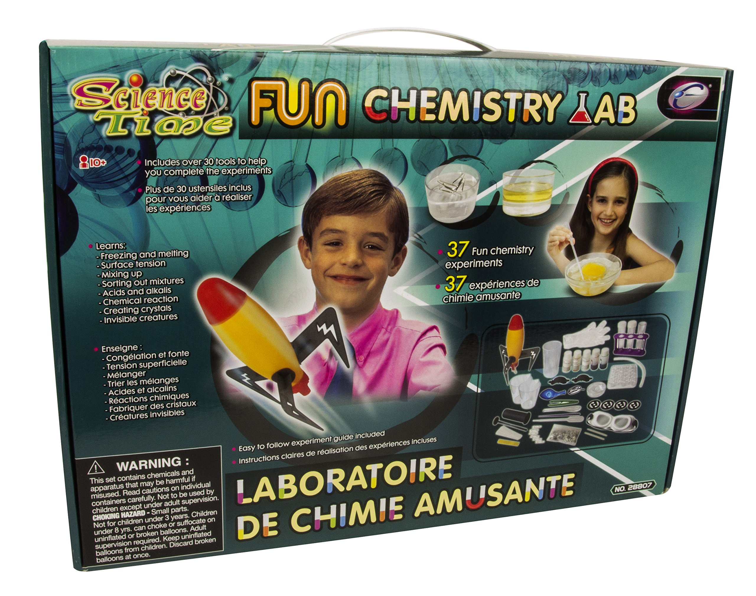 Science Time Fun Chemistry Lab STEM Interactive Multi-Experiment Kit For Kids by Scientifics Direct