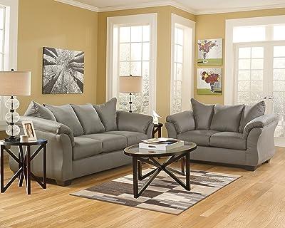 Ashley Furniture Signature Design - Darcy Sofa - Ultra Soft Upholstery - Contemporary - Cobblestone
