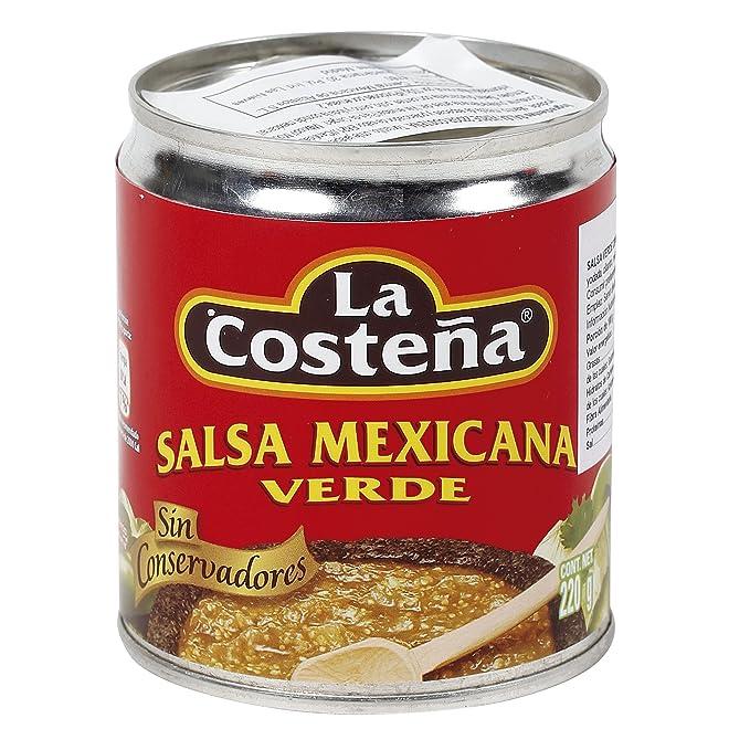 LA COSTEÑA salsa mexicana verde lata 220 gr
