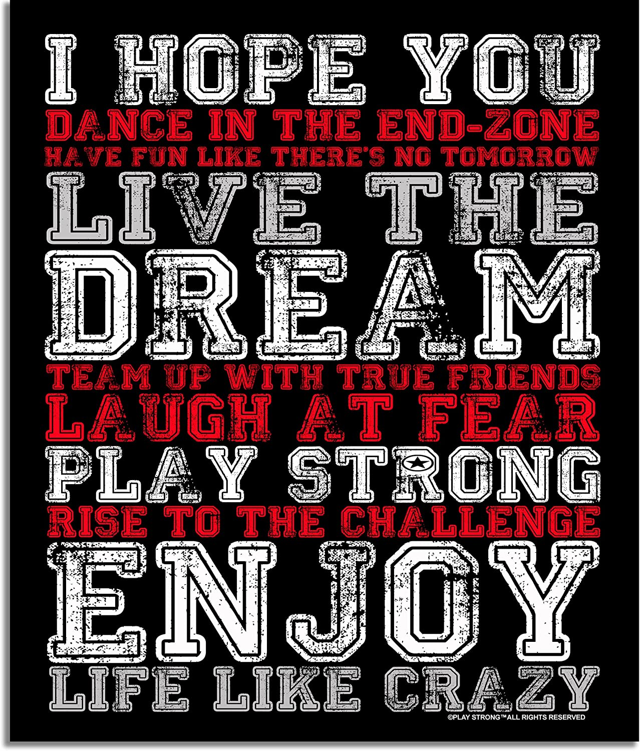 Play Strong I Hope You Iconic Maximum Motivation Poster Giant XL Size 20in x 24in Premium Poster Paper Super Inspirational For All Walls Office, Locker Rooms, Workout Gyms, Break Rooms, Team Walls, Athlete's Room, Coach's Office