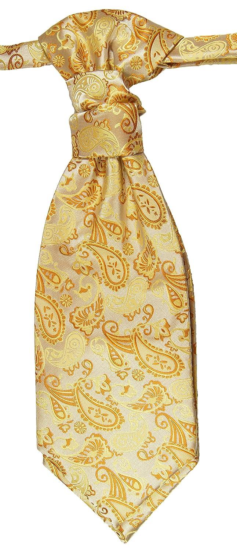 Hochzeitskrawatte creme gold Plastron Hochzeitsmode für Herren by Paul Malone PMPSv16