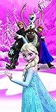 Disney Beach Towel Frozen Anna & Elsa Frozen Magic Bath Towel 100% Cotton
