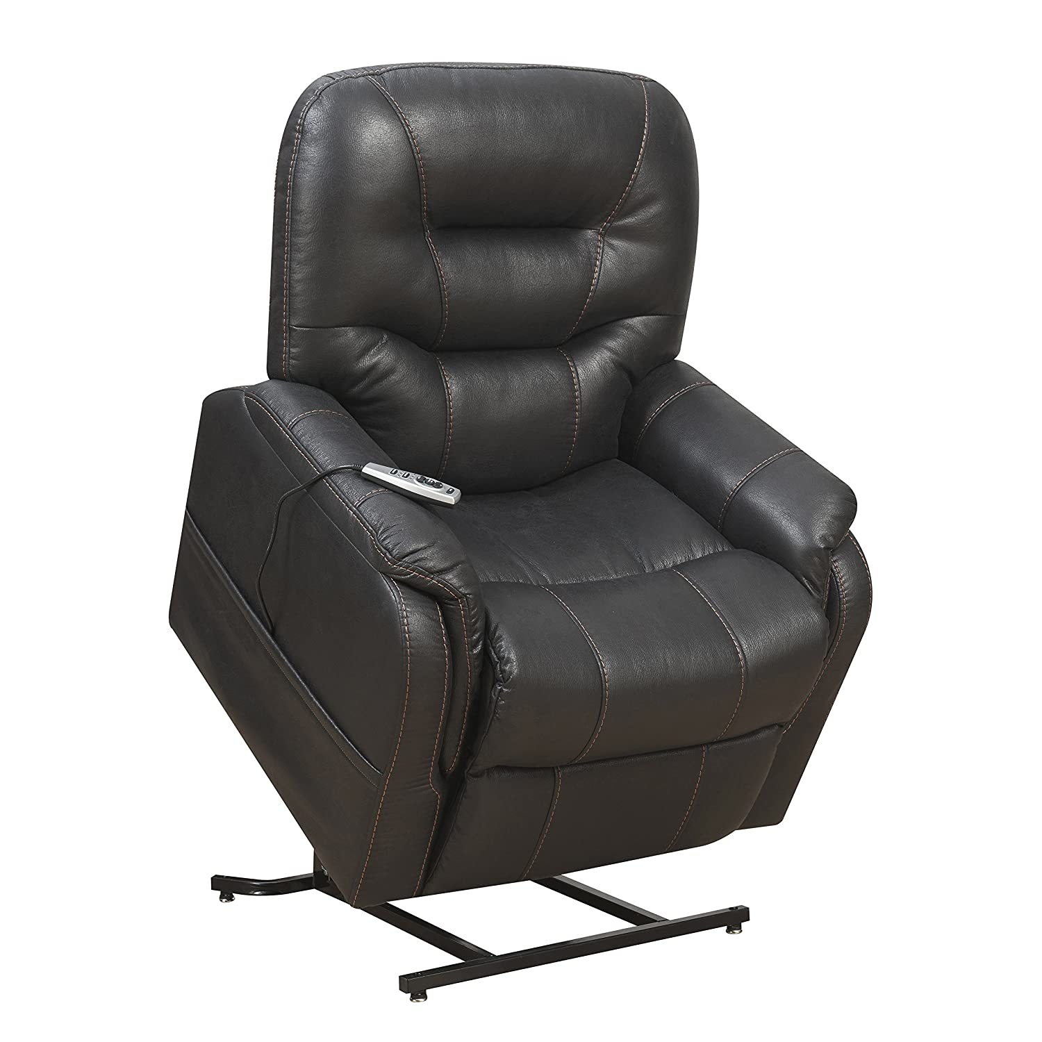 Amazon.com Pulaski Heat Massage Lift Chair in CHARCOAL black Kitchen u0026 Dining  sc 1 st  Amazon.com : handicap lift recliners - islam-shia.org