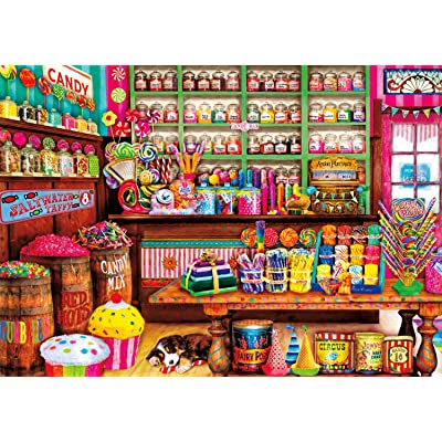 Buffalo Games - Aimee Stewart - Sweet Shop - 300 Large Piece Jigsaw Puzzle: Toys & Games