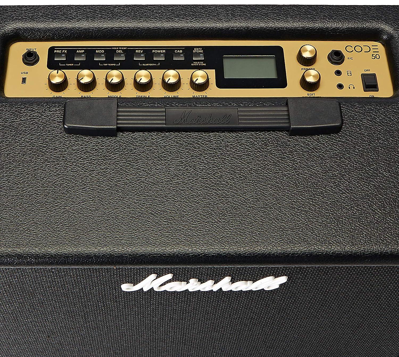 Marshall Code 50 Watt 1x12 Digital Combo Amp Make Original 100w Guitar Musical Instruments