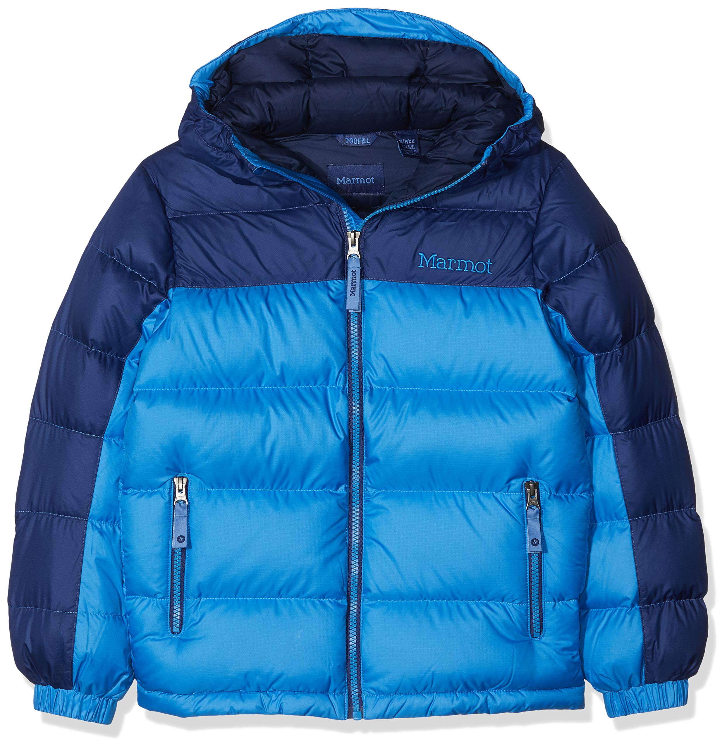 5a887b601eb8 Details about Marmot Boy s Guides Down Hoody Puffer Jacket with Hood