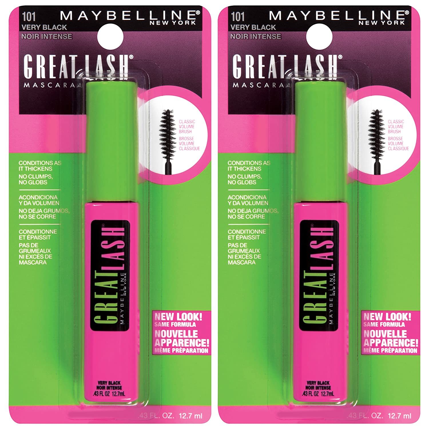 ed50f147627 Buy Maybelline New York Great Lash Washable Mascara Makeup, Very Black, 2  Count Online at Low Prices in India - Amazon.in
