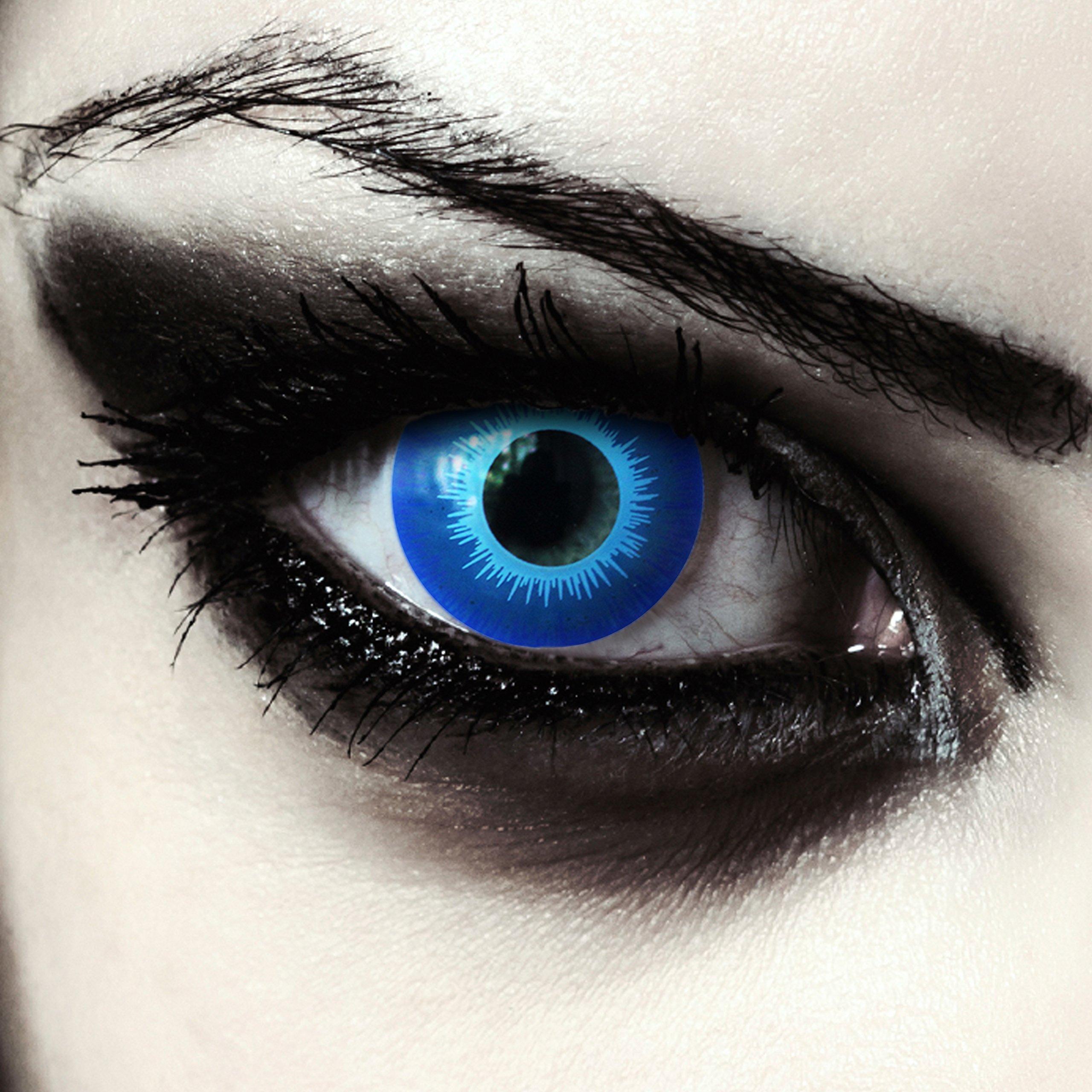 e25a44303193e Lentillas de color azul para Halloween duende lentillas sin dioprtías    corregir + gratis caso de