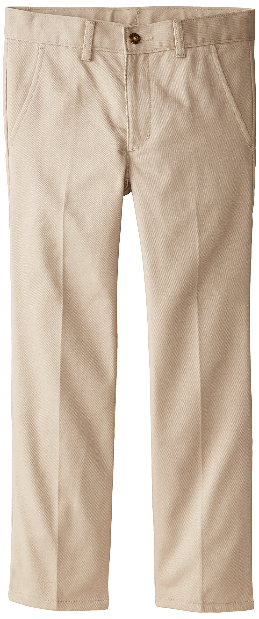 IZOD Little Boys' Double Knee Pant, Khaki, 20 Regular