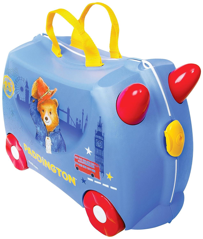 Trunki Trolley Kinderkoffer, Handgepäck für Kinder: Paddington Bär (Blau) 0371-GB01