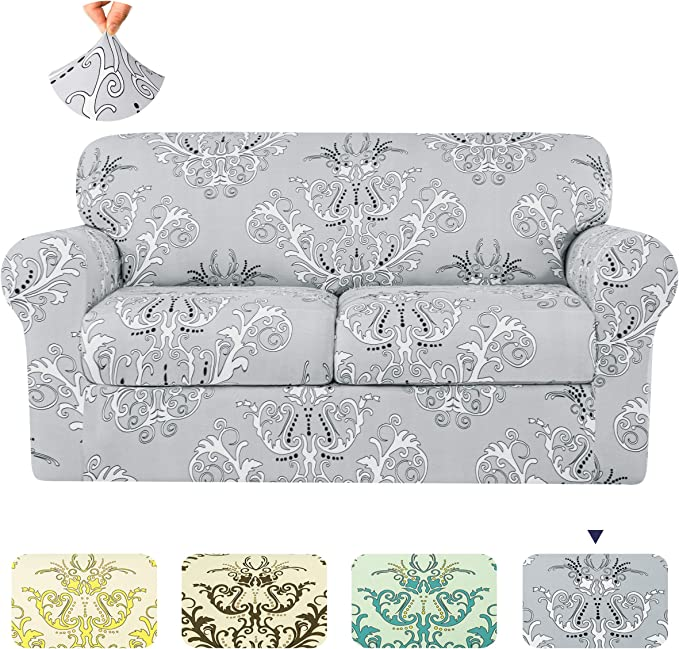 couch slipcovers with separate back cushion covers