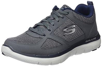 Skechers Herren Low Top Low Top Dual Light Grau (Charcoal/Blue) 47.5