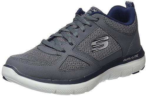Skechers 52180 Flex Advantage 2.0 - Zapatillas Hombre, Negro (Black/White), 49 EU
