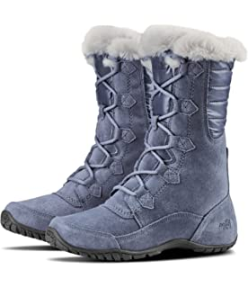 The North Face Thermoball Button-Up Insulated, Bottes de Neige Femme, Noir (Shiny Blackened Pearl/Blue Haze 5Qc), 40 EU