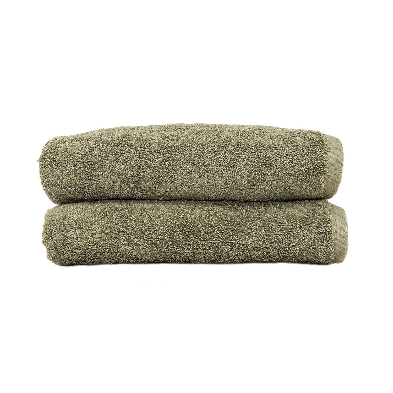 Linum Home Textiles 100% Turkish Cotton Soft Twist Hand Towels, Aqua Blue, 2 Piece ST40-2HT