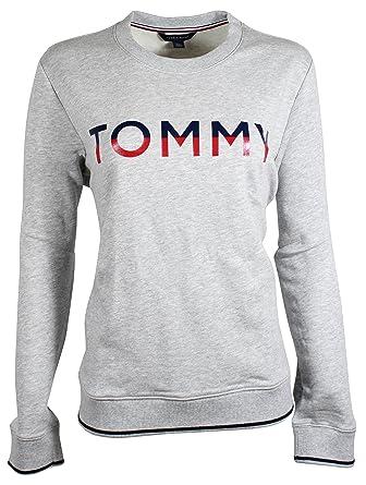 1fef8fbb5b1b Tommy Hilfiger Women s Crewneck Dual Colored Logo Sweater (XX-Large ...
