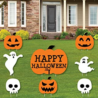 product image for Big Dot of Happiness Trick or Treat - Yard Sign & Outdoor Lawn Decorations - Happy Halloween Party Yard Signs - Set of 8