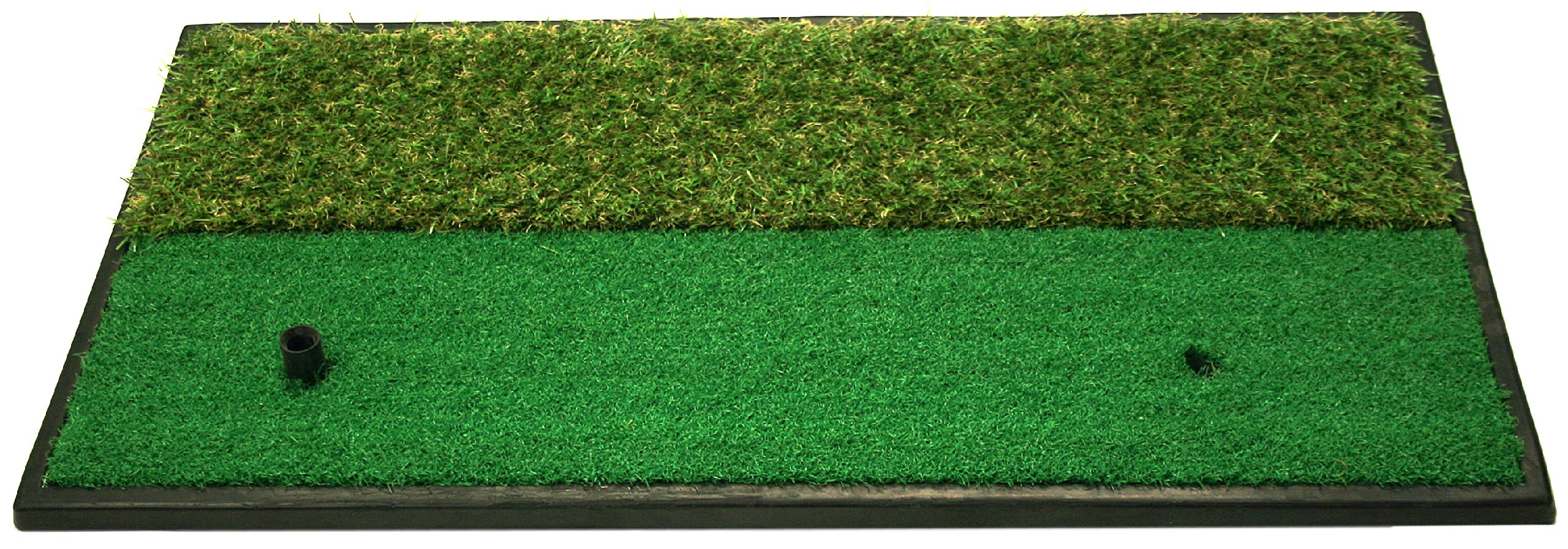Dual-Surface Hitting/Practice, Chipping and Driving Golf Grass Mat with Fairway and Rough Surfaces by ProActive Sports