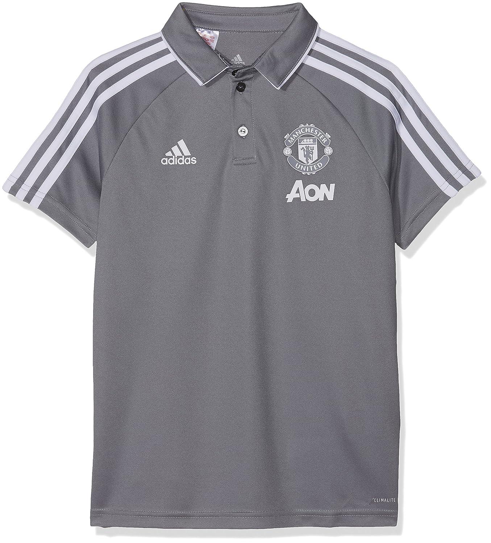 1ed07401187 Amazon.com   adidas 2017-2018 Man Utd Training Polo Football Soccer T-Shirt  Jersey (Grey) - Kids   Sports   Outdoors