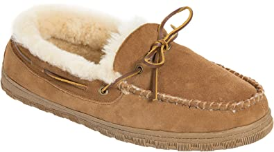 b5ac978741bb Image Unavailable. Image not available for. Color  Men s Sydney Sheepskin  Moccasin Slippers