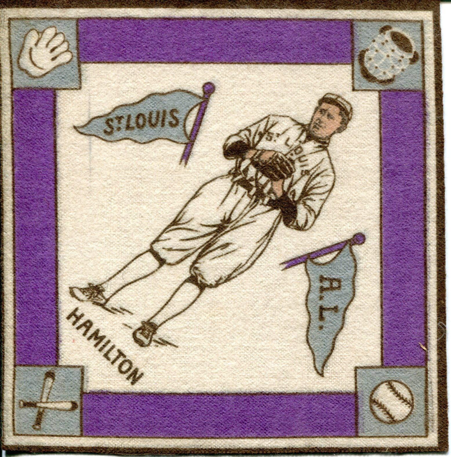 Earl Hamilton Purple Basepaths 1914 B18 Blanket