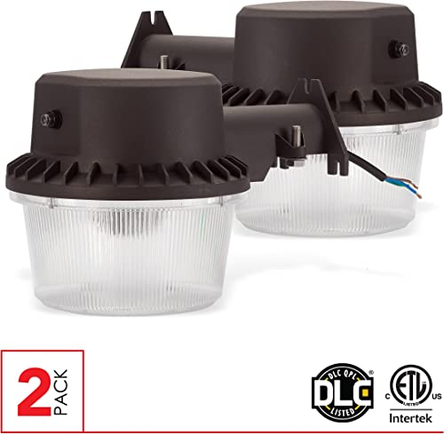 LEDPAX LED Dusk-to-Dawn Barn Light Outdoor Flood Light with Photocell, 35W, 3500 Lumens, 5000K, CRI 80, IP65 Waterproof LED Flood Light, ETL-DLC 4.0 Listed. 35W 2 Pack
