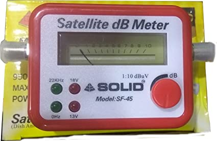 Solid SF-45 Satellite Signal Finder Db Meter for Full Hd Dish TV Network  Setting