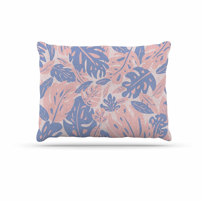 KESS InHouse Will Wild pink Quartz & Serenity Jungle Pink Floral Dog Bed, 50  x 40