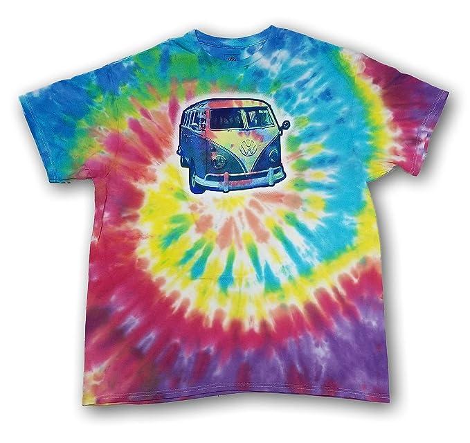 Vintage Shirts – Mens – Retro Shirts VW Bus Tie Dye Mens Tee Shirt Volkswagen $13.99 AT vintagedancer.com