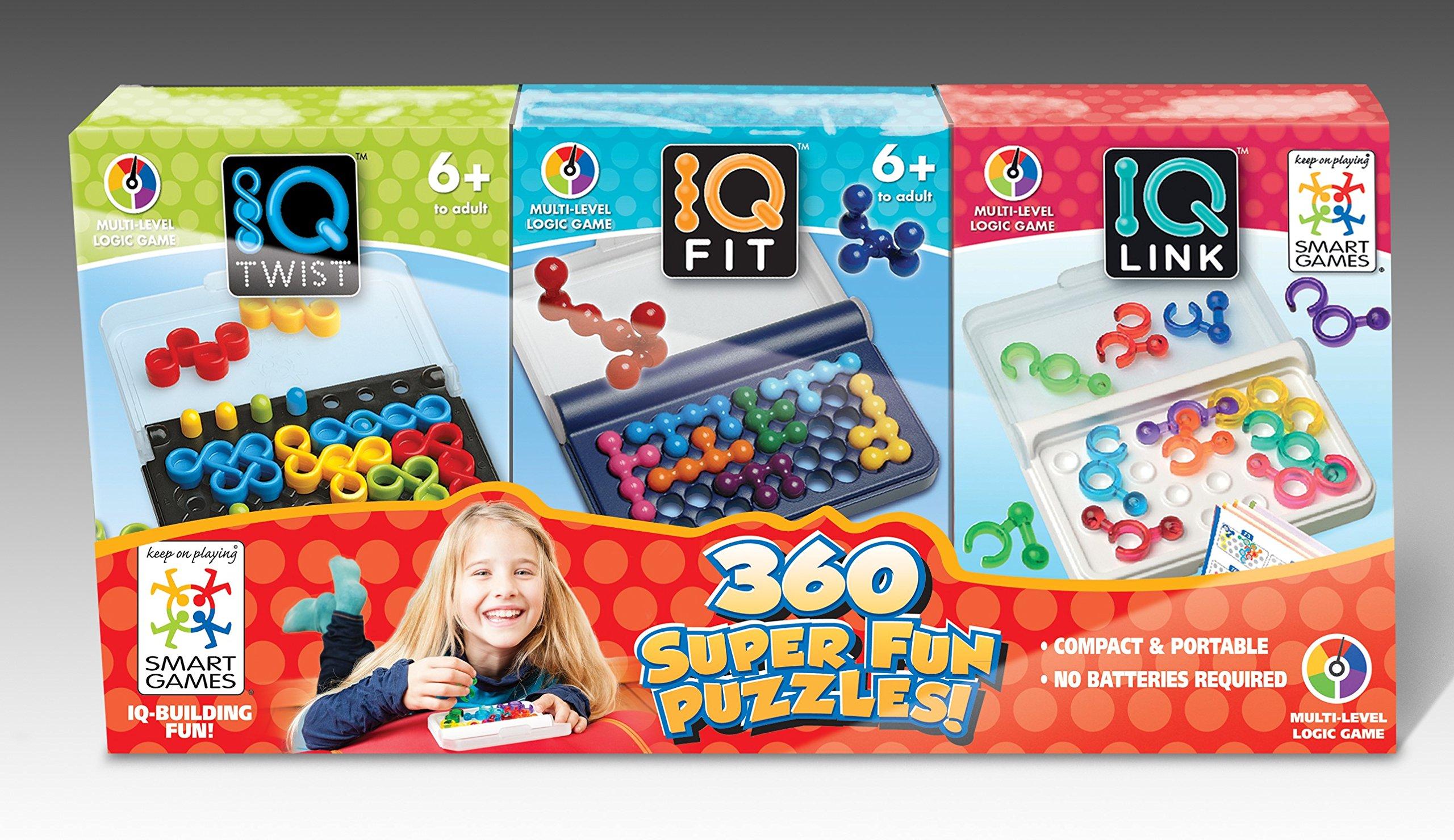 SmartGames IQ 3-Pack - IQ Twist, IQ Fit, IQ Link by SmartGames
