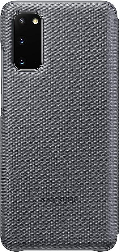 Samsung Led View Smartphone Cover Ef Ng980 Für Galaxy S20 S20 5g Handy Hülle Led Anzeige Kartenhalterung Grau Elektronik
