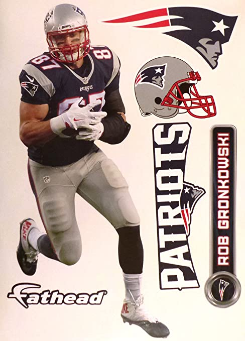 Image Unavailable. Image not available for. Color  Rob Gronkowski FATHEAD New  England Patriots Official NFL ... 67f3b1277
