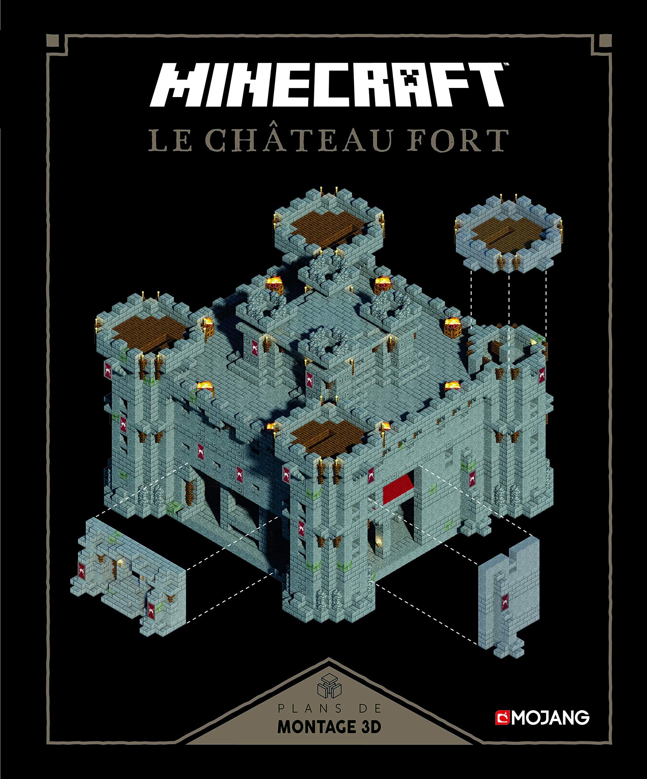 Minecraft : Le château fort: Plans de montage 12D  Amazon.com.br