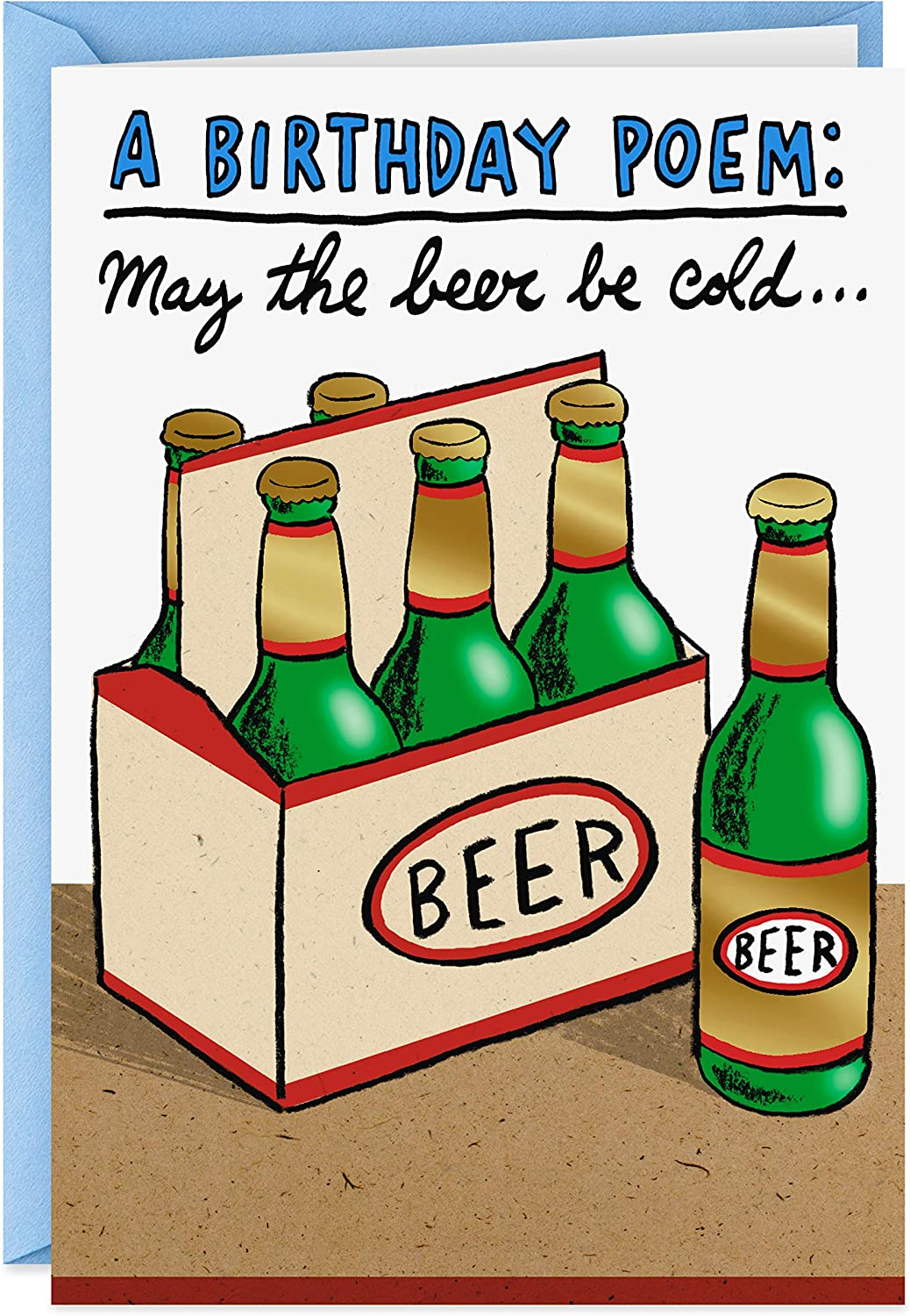 Amazon Com Hallmark Shoebox Funny Birthday Card Cold Beers Office Products