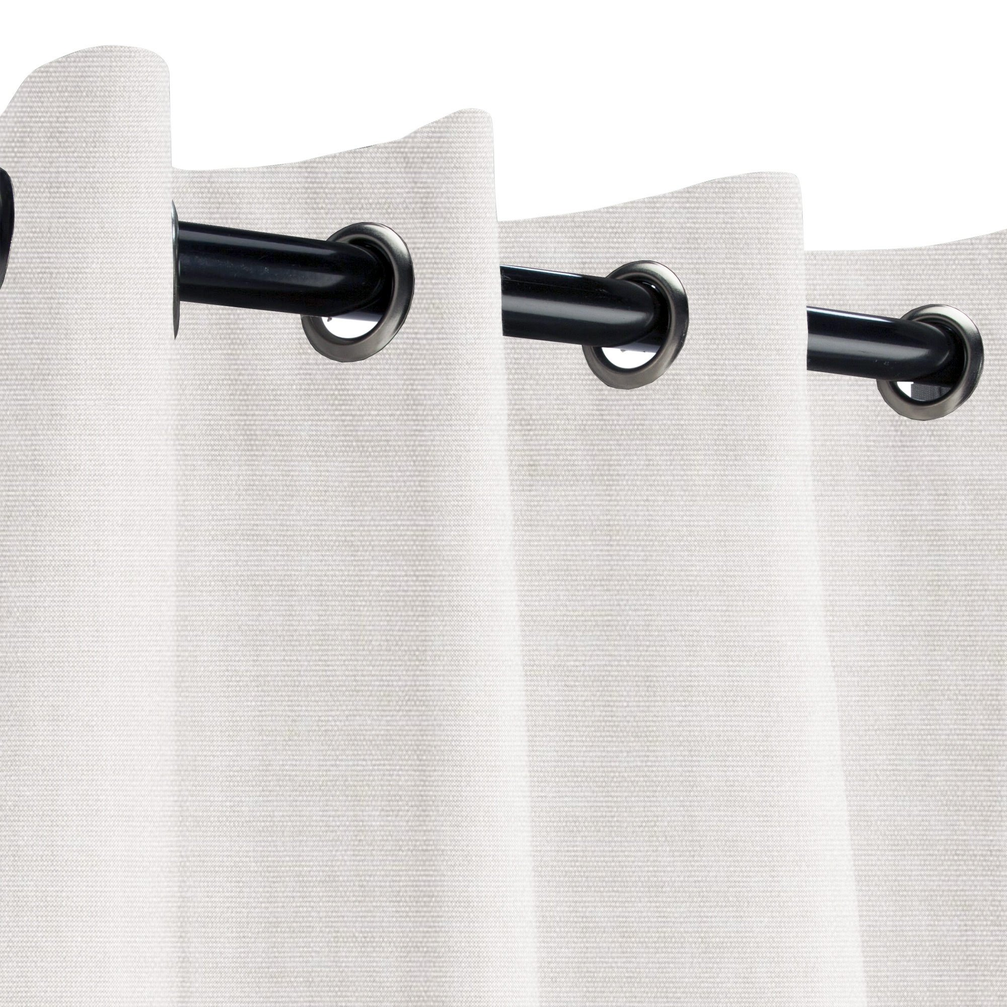 Sunbrella Linen Canvas Outdoor Curtain with Nickel Grommets 50 in. Wide x 108 in. Long
