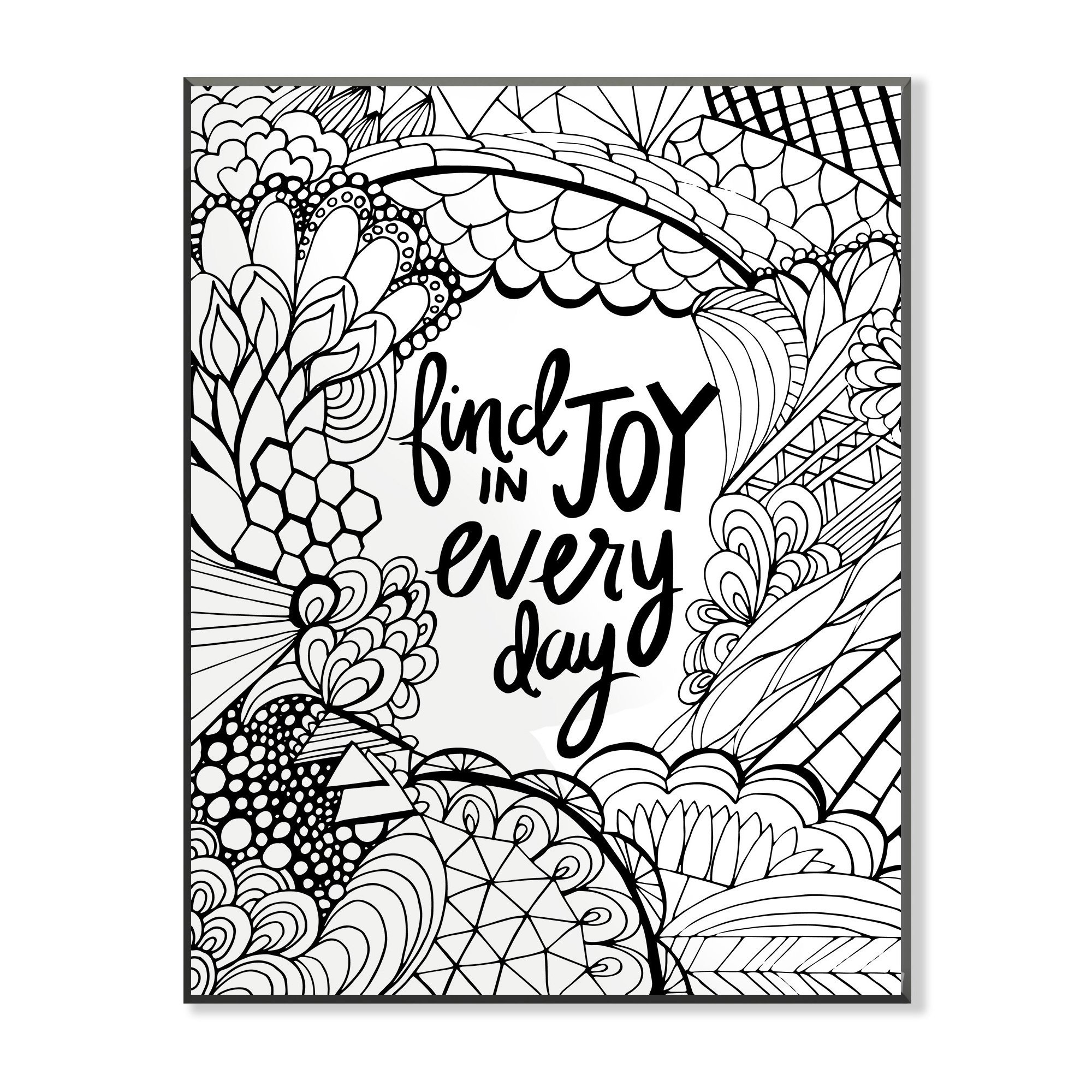 The Stupell Home Decor Collection Find Joy In Every Day DIY Coloring Wall Plaque by The Stupell Home Decor Collection