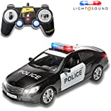 Prextex RC Police Car Remote Control Police Car RC Toys Radio Control Police Car Great Christmas Gift toys for boys Rc Car with Lights And Siren Best Christmas gift for 5 year old boys And Up