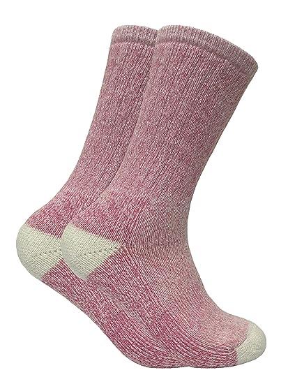 Sock Snob 2 pares mujer calientes invierno lana senderismo trekking calcetines en 4 colores (37-42 eur, WRHL01): Amazon.es: Ropa y accesorios