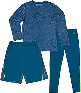 New Balance Boys Performance T-Shirt, Short and Running Tight Tracksuit